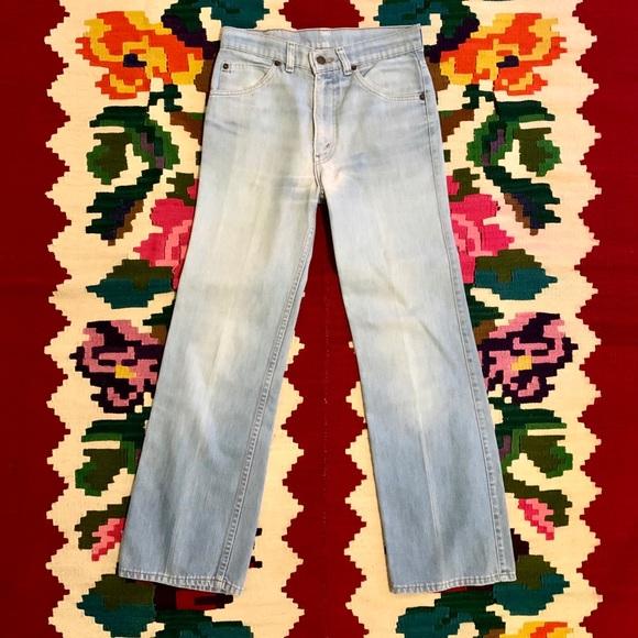 Vintage 60s Levi's High Waist Wide Leg Jeans